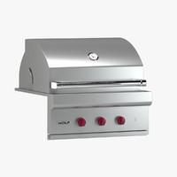 3d subzero wolf grill