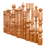 3d balustrade post model