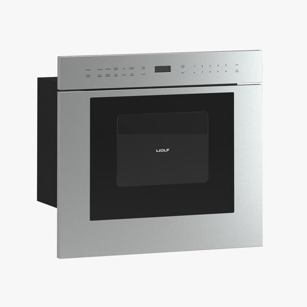 3d model of subzero wolf microwave