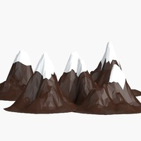 3d model cartoon mountains pack