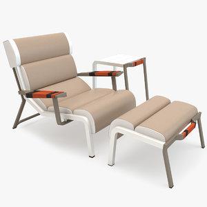 kettal bob club armchair 3d max