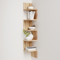 Corner shelf with decor