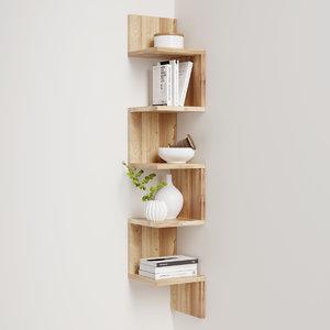 3d corner shelf decoration model