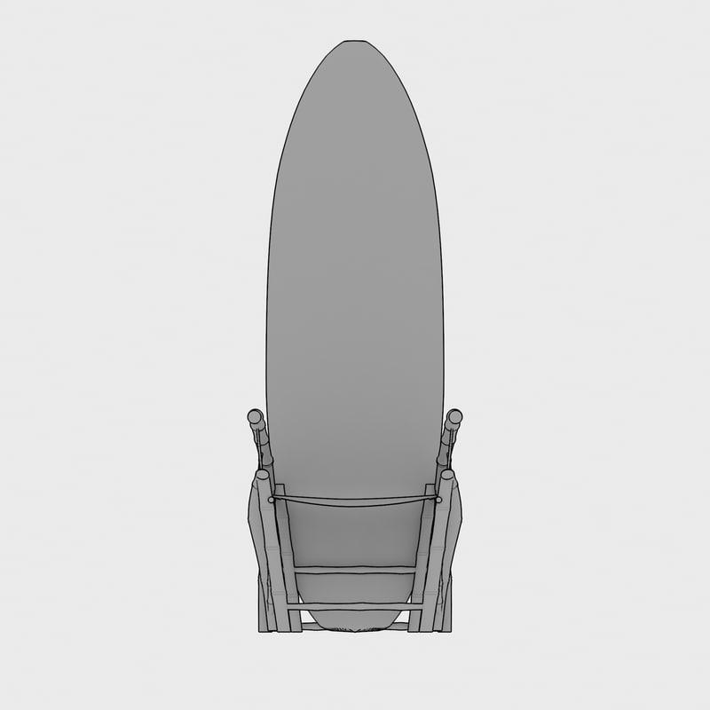 chair surf bamboo 3d model