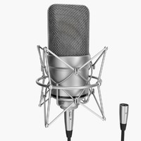 3d rigged microphone xlr model