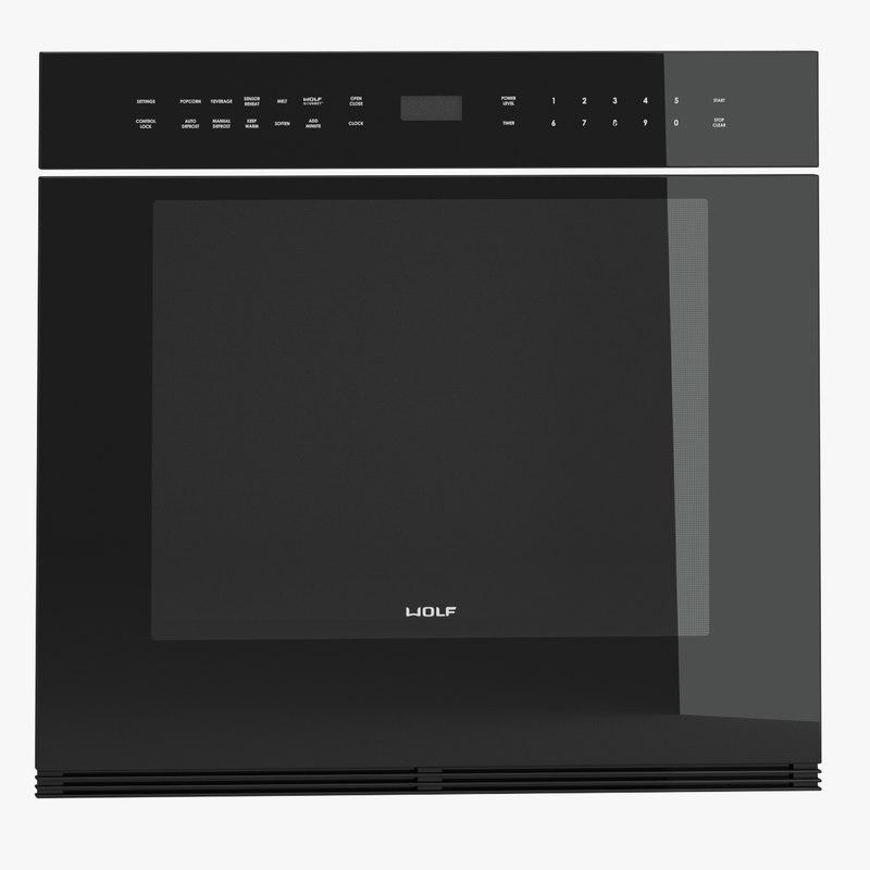 subzero wolf oven 3d model