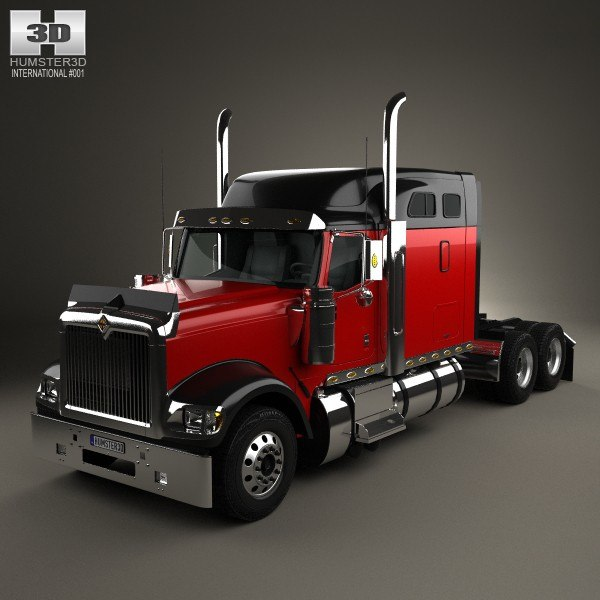 3d international 9900i tractor model