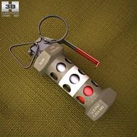 3d model m84 grenade stun