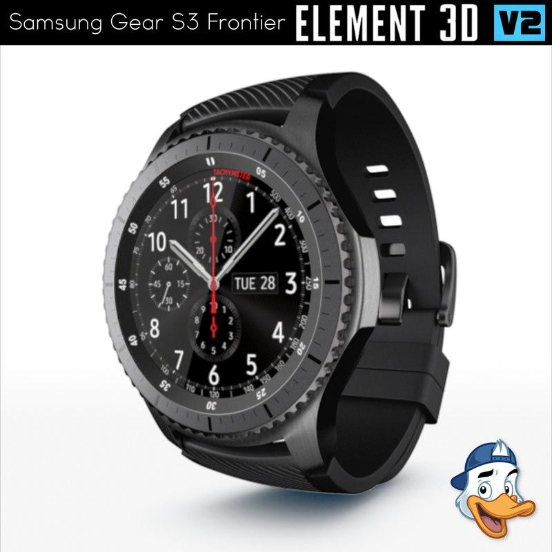3d model samsung gear s3 frontier
