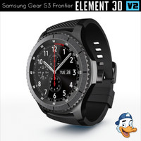 3d model samsung gear s3 frontier