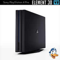 3d model sony playstation 4 pro