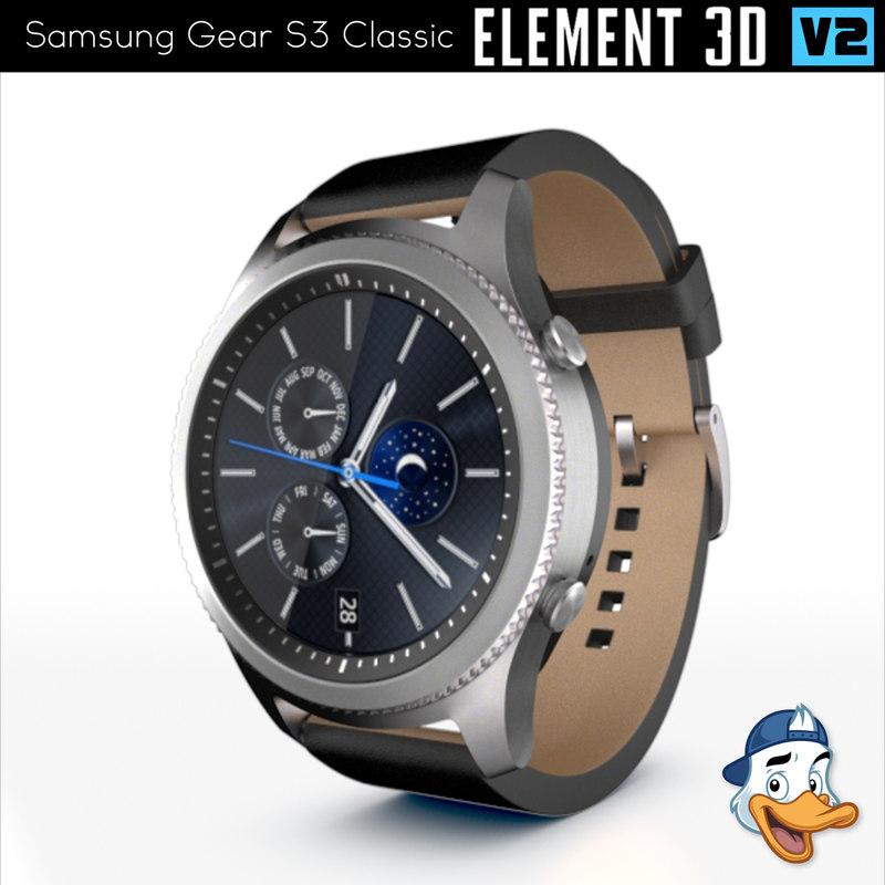 3d model samsung gear s3 classic
