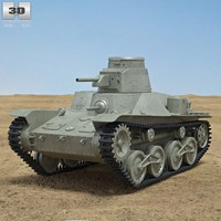 3d model of ha-go type 95