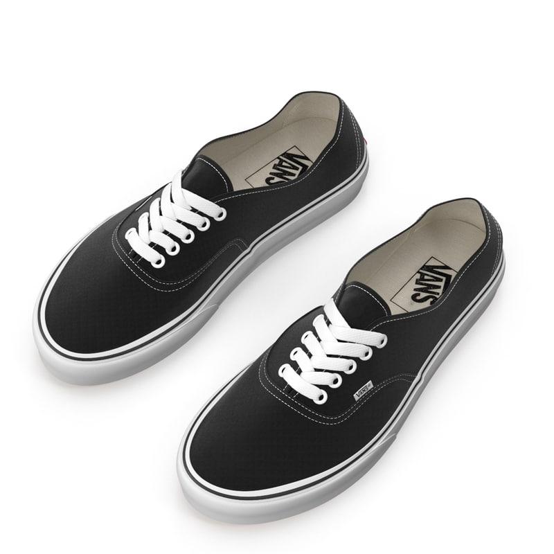 vans shoes authentic 3d max