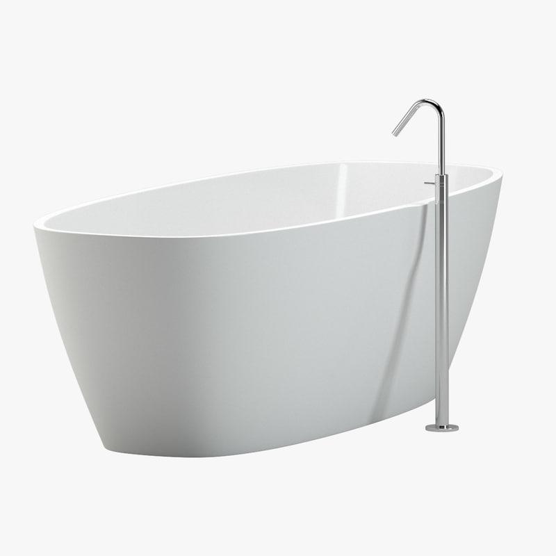 3d bathtub 02 faucet model