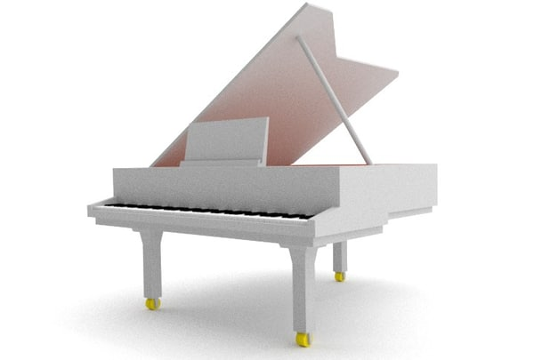 blender grand piano 3d obj