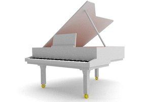 blender grand piano 3d obj