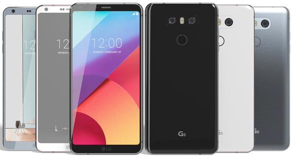 realistic lg g6 colors 3d model