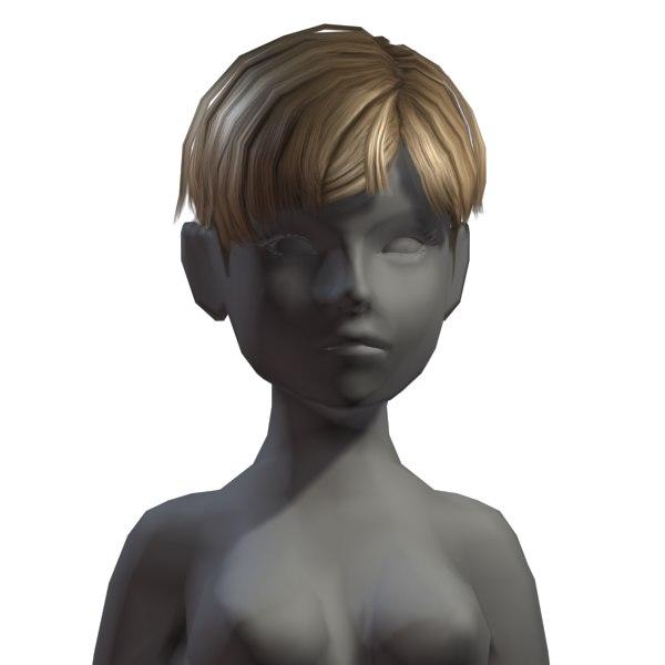3d model hair