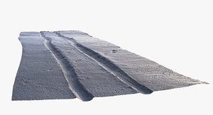 3d model of scan snowed road