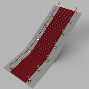 red carpet stairs 3d model
