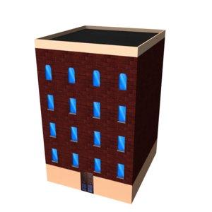 3d model building new york