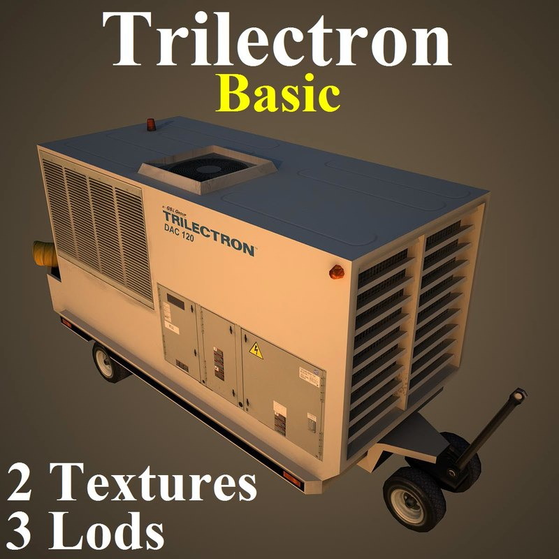3d model of trilectron basic