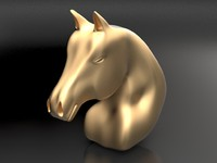 head horse caballo obj