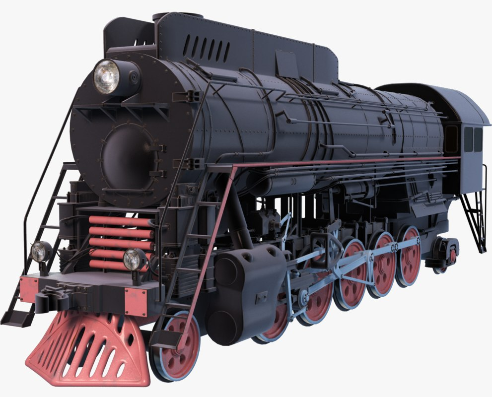 3d steam locomotive model