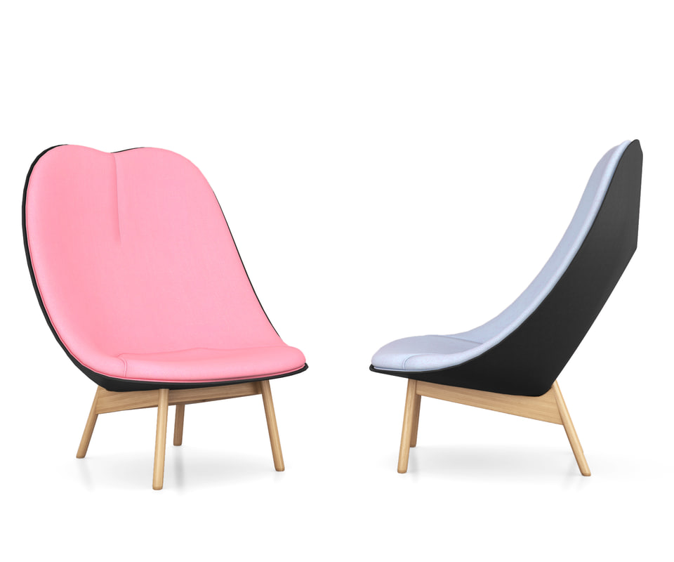 uchiwa lounge chair 3d obj