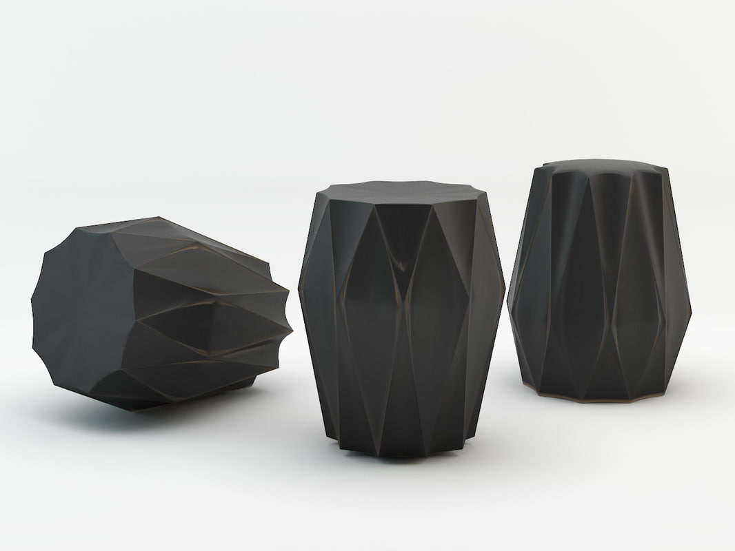 diamond deco stool 3d max