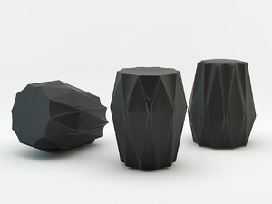 diamond deco stool 3d max