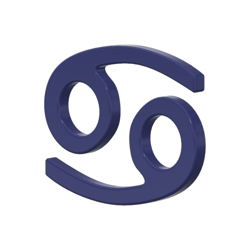 3d Cancer Zodiac Sign Model