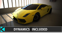 3d model gallardo dynamics car