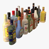 Alcoholic Drink Bottles Collection