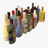 Colección de botellas de bebidas alcohólicas