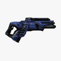 obj sci-fi gun