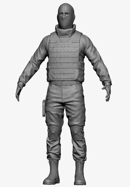 3d 3ds soldier zbrush