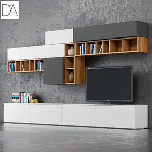 tv stand dallagnese 3d model