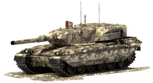 challenger battle tank falcon 3d model
