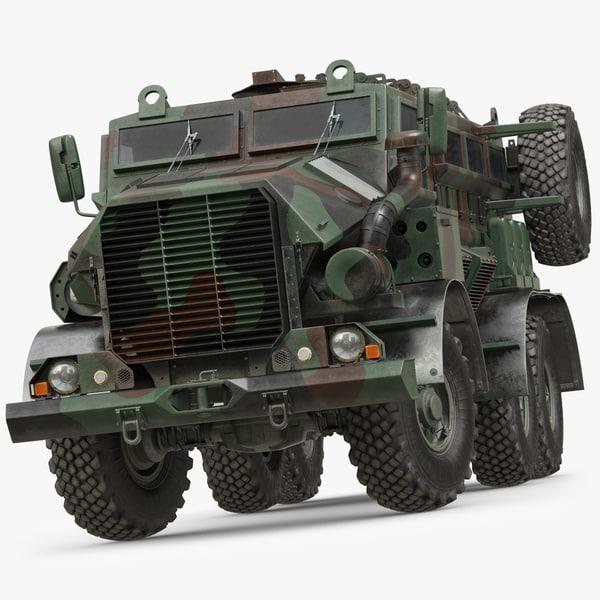 truck military casspir mk 3d model