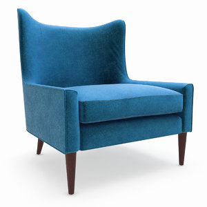3d model marlow wing chair