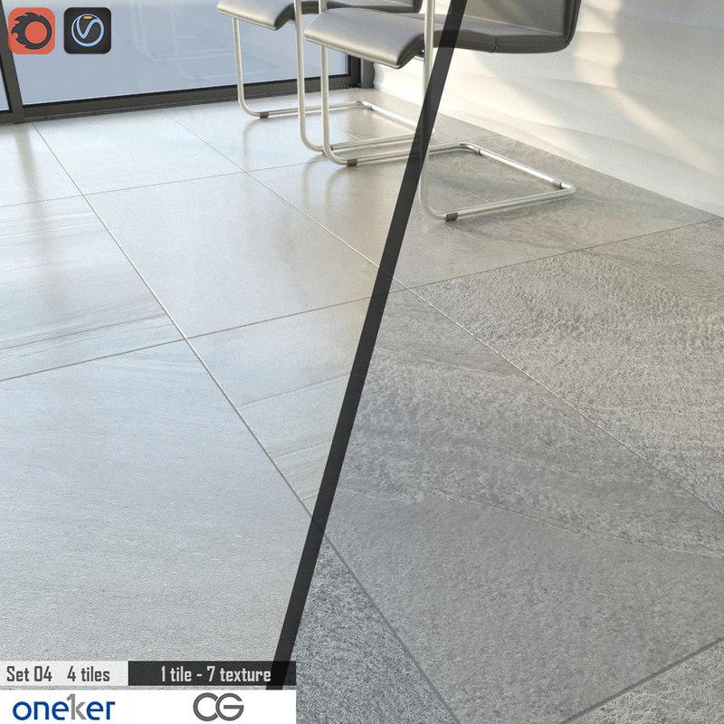 3d model tile oneker set 04