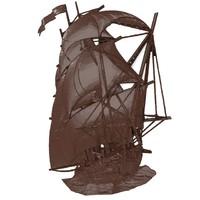 Sailer (ship) bas relief for CNC