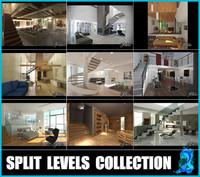 3d split levels 2 model