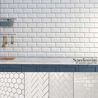 Seamless 3D Glazed Bricks