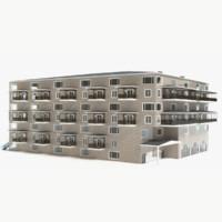 3d condominium hotel model