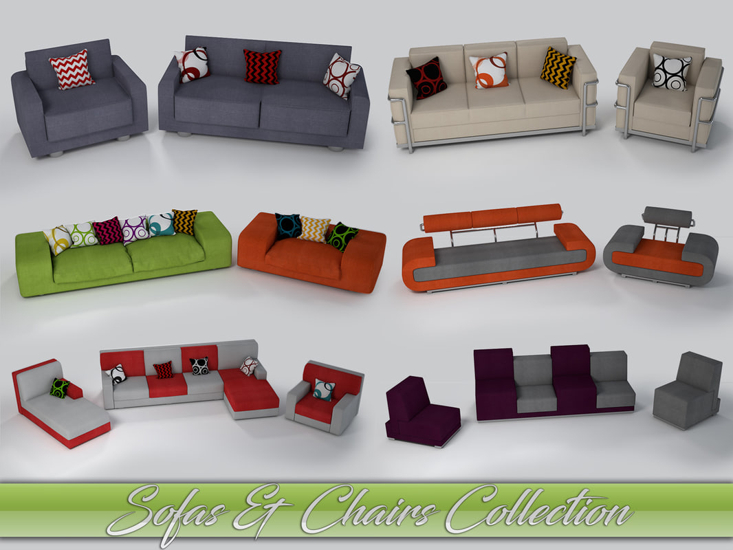 3d model sofas armchairs