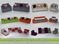 3d model sofas armchairs