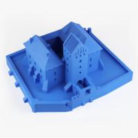 3d medieval castle trakai - model
